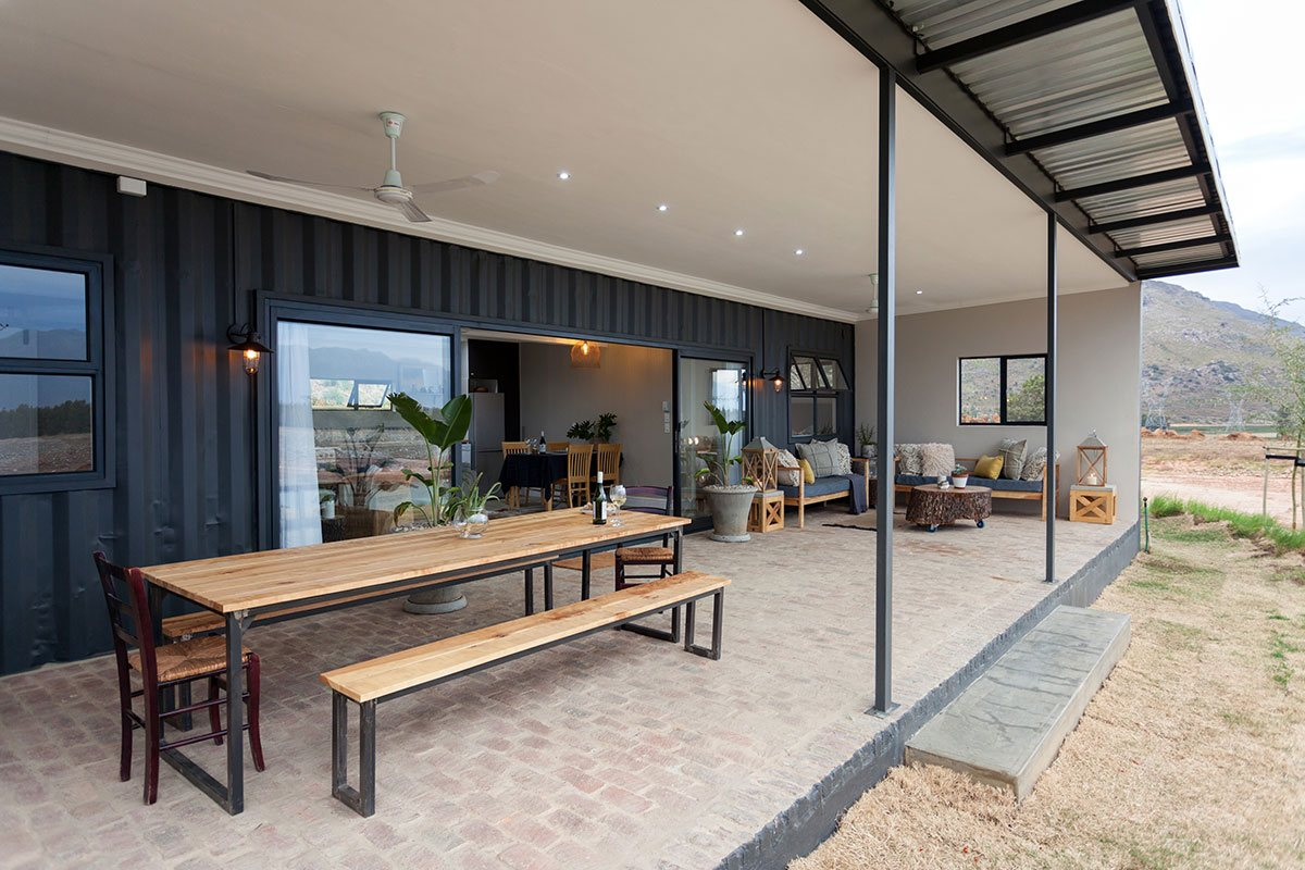 Deep covered patio